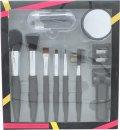 Active Cosmetics Prestige Luxe Brush Geschenkset 6 Pinsel + Spiegel + Wimpernzange + 5 Applikatoren+ Anspitzer